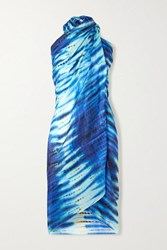 Figue Tie Dyed Silk Pareo Blue