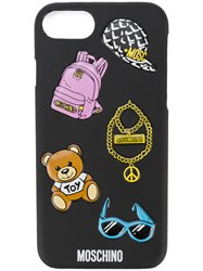 Moschino Logo Print Iphone 6 Case Black