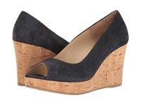 Cordani Rayner Navy Suede Women's Wedge Shoes Blue