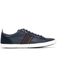 Paul Smith Jeans Stitch Detail Low Top Sneakers Blue