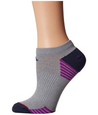 Adidas Superlite Speed Mesh 2 Pack No Show Socks Clear Grey Marl Midnight Grey Shock Purple Easy Coral Women's No Show Socks Shoes Gray