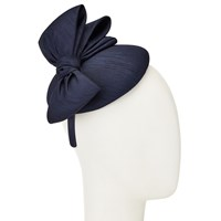John Lewis Paige Shantung Pillbox Bow Fascinator Navy