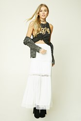 Forever 21 Crochet Trim Maxi Skirt