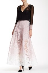 Stella And Jamie Astrid Ombre Maxi Skirt Pink