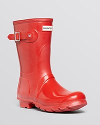 Hunter Rain Boots Women's Original Short Glossy Military Red