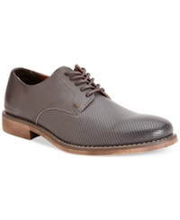 Calvin Klein Jeans Onyx Perforated Oxfords Men's Shoes Dark Grey