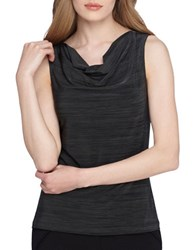 Tahari By Arthur S. Levine Draped Sleeveless Top Olive Green