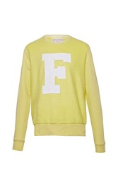 French Connection Jopadhola Cracked Graphic Crew Neck Jumper Yellow