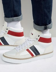 Tommy Hilfiger Maze High Top Trainers White