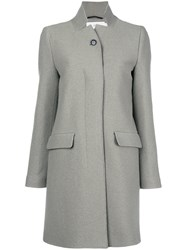 Closed Classic Fitted Tailored Coat Green