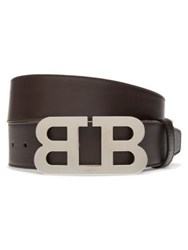Bally Bull Leather Belt Brown