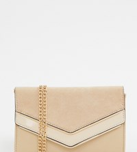 a5ed28d4b72 Aldo Melitoirpino Beige Clutch Bag With Gold V Bar Detail Black