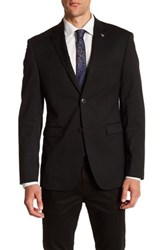 Original Penguin Black Woven Two Button Notch Lapel Blazer
