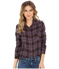 Rvca Jig 4 Top Shale Women's Long Sleeve Button Up Brown