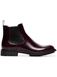 Church's Genie Leather Chelsea Boots Red