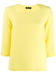 Gianluca Capannolo 3 4 Sleeve Blouse Yellow
