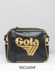 Gola Classic Redford Messenger Bag In Black And Gold Black And Gold Multi