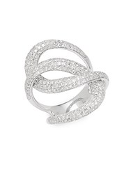 Effy Twisted 14K White Gold And 1.73 Tcw Diamond Ring No Color