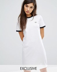 Fred Perry Archive Ringer T Shirt Dress White