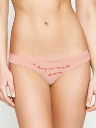 Love Stories Lolita Frill Bikini Brief Pink