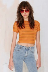 Nasty Gal After Party Vintage Emiline Crop Tee