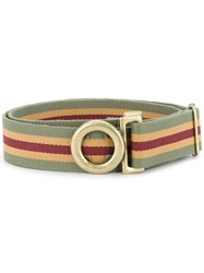 Kent And Curwen Cross Buckle Belt Multicolour