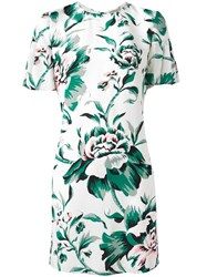 Burberry Floral Print Dress Green