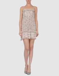Nioi Short Dresses Beige