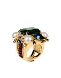 Emilio Pucci Rings Green