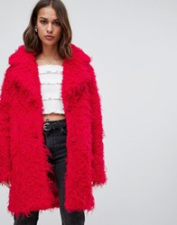 Minimum Teddy Bear Coat Rose Red