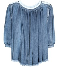 Chloe Denim Blouse Blue