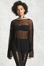 Forever 21 Contemporary Mesh Top Black