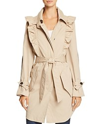 Joie Gila Ruffled Trench Coat Light Sand