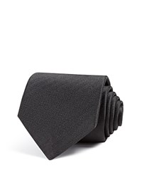 Eton Of Sweden Herringbone Classic Tie Black
