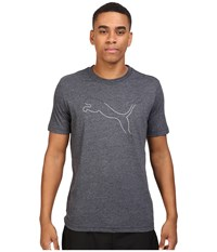 Puma Big Cat Fade Graphic Tee Dark Gray Heather White Men's T Shirt Blue