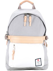 As2ov Contrast Logo Patch Backpack Men Nylon One Size Grey