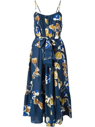 Erika Cavallini Semi Couture Flared Printed Dress