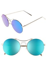 A. J. Morgan Women's A.J. Spacey 56Mm Sunglasses Gold Blue Mirror Gold Blue Mirror