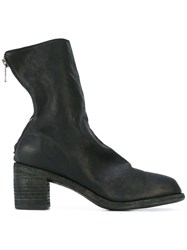 Guidi Low Block Heel Ankle Boots Women Buffalo Leather Leather 39.5 Black