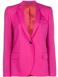Paul Smith Ps By Classic Single Breasted Blazer Pink And Purple