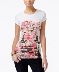 Guess Graphic T Shirt True White