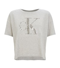Calvin Klein Jeans Icon Logo T Shirt Female Grey