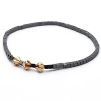 Esenelle Ahmed Bracelet Grey Rose Gold Silver