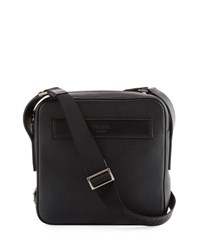 Prada Men's Leather Crossbody Messenger Bag Black