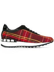 Casadei Checked Sneakers Red
