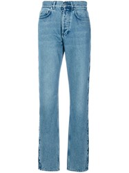 Givenchy Star Patch Slouchy Jeans Women Cotton Polyester 40 Blue