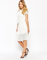 Supertrash Stardust Skirt In Broderie Lace Frostedwhite
