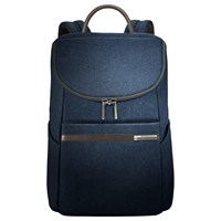 Briggs And Riley Small Wide Mouth Backpack Blue
