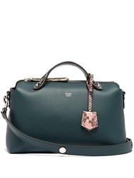 Fendi By The Way Leather And Ayers Cross Body Bag Green Multi