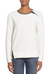Women's Dex Shoulder And Side Zip Top Off White